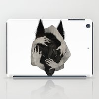wolves iPad Cases featuring Wild Dog by Corinne Reid