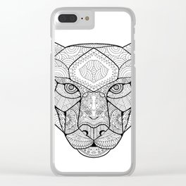 Black Panther Zentagle Clear iPhone Case