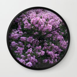 Charleston Lavender Purple Flowering Trees Nature Prints Home Decor Wall Clock