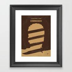 No834 My Commando minimal movie poster Framed Art Print