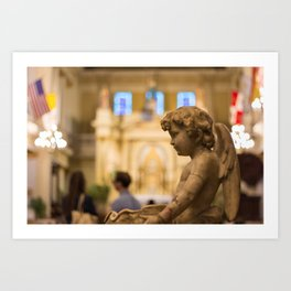 St. Louis Cathedral in the French Quarter, New Orleans, LA Art Print