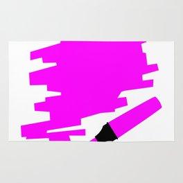 Purple Marker Copy Space Rug