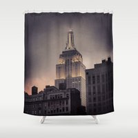 gotham Shower Curtains featuring Gotham by Amritha Mahesh
