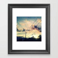 Petworth at Sunset (Washington, DC) Framed Art Print