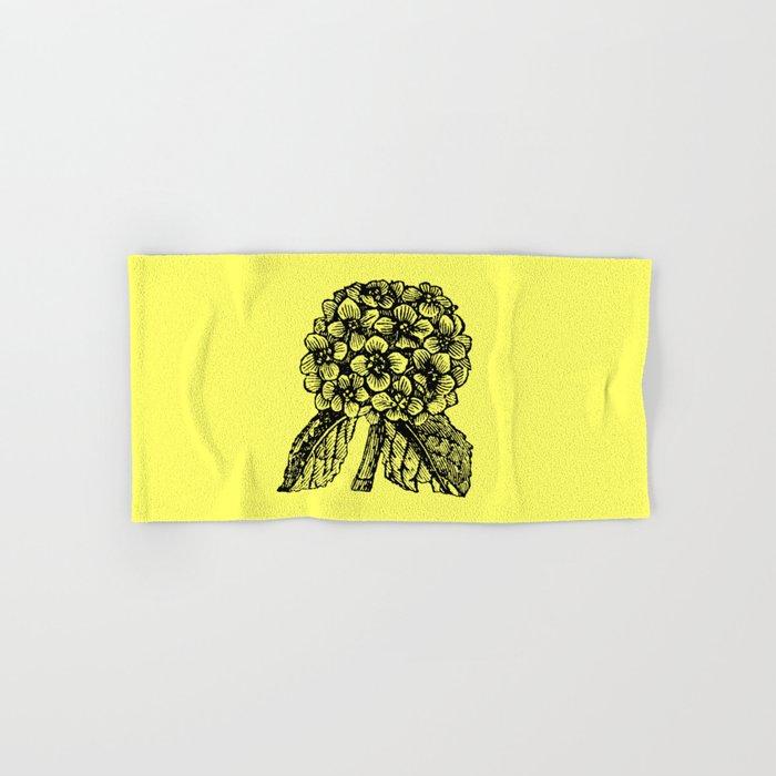 Yellow Hydrangea Hand & Bath Towel