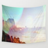 sydney Wall Tapestries featuring sydney skies by Jessica Ashley Unknown | Jessica Bee