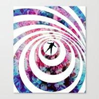vertigo Canvas Prints featuring VERTIGO by Tia Hank