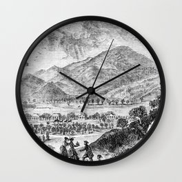 Mount Saint Helena A La California (1873) Wall Clock