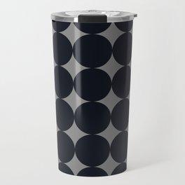 Large Black Dots on Gray Travel Mug
