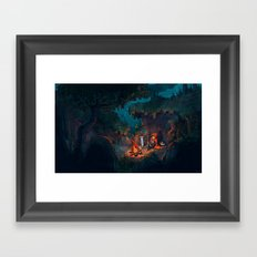 The Weary Traveller Rests Framed Art Print