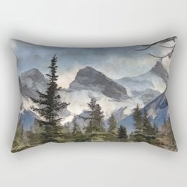 The Three Sisters - Canadian Rocky Mountains Rectangular Pillow