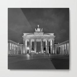 BERLIN Brandenburg Gate | monochrome Metal Print