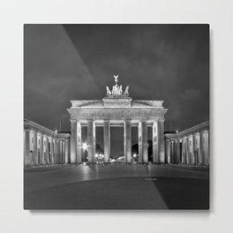 BERLIN Brandenburg Gate | monochrome Metal Print