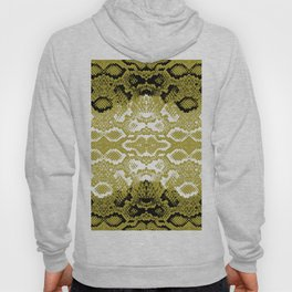 Snake skin scales texture. Seamless pattern black yellow gold white background. simple ornament Hoody