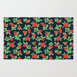 Lingonberry (on Navy) Rug