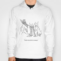 "lawyer Hoodies featuring ""One Hell Of A Lawyer"" by Bill Abbott Business Cartoons"