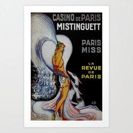 Vintage Paris France Cabaret Ad Art Print