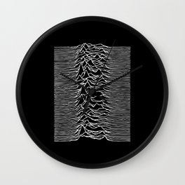Distorted waves Wall Clock