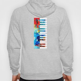 Colorful Piano Art by Sharon Cummings Hoody