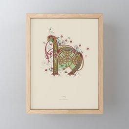 Celtic Initial H Framed Mini Art Print