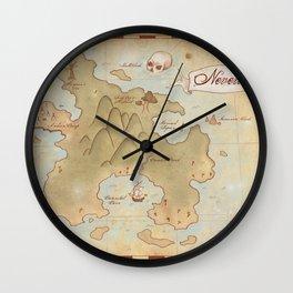 Map of Neverland Wall Clock