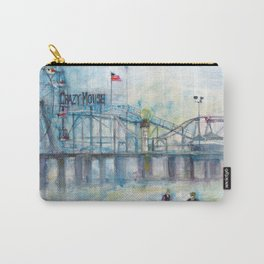 Altantic City, New Jersey - Roller Coaster - Ferris Wheel - Watercolor Painting Carry-All Pouch