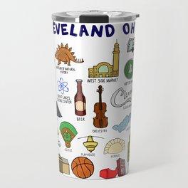 Cleveland Ohio Landmarks Travel Mug