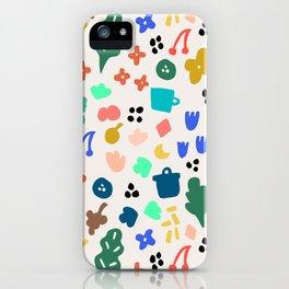 Fleurs au vent iPhone Case