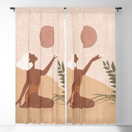 Strawberry Full Moon - Manifest your Desires and Wishes Blackout Curtain