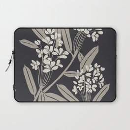 Boho Botanica Black Laptop Sleeve