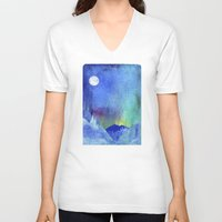 northern lights V-neck T-shirts featuring Northern Lights by Ricardo Moody