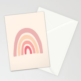 Rainbow Shape Abstraction Stationery Cards