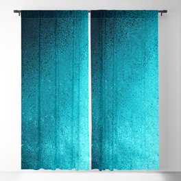 Modern abstract navy blue teal gradient Blackout Curtain