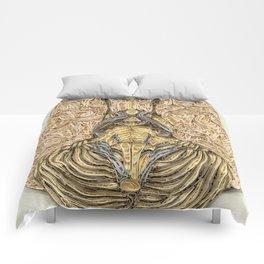 paper filigree brain Comforters