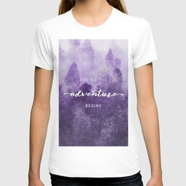 Ultra Violet Forest - And So The Adventure Begins T-shirt