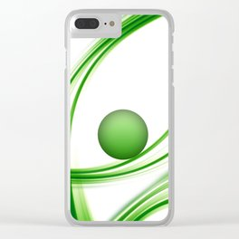 Green 113 Clear iPhone Case