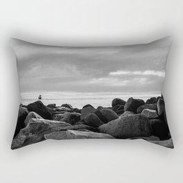 Morro Bay Black & White Rectangular Pillow