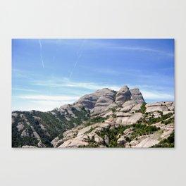 Landscape of Montserrat mountain in Catalonia, Spain Canvas Print