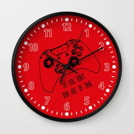 Video Game Red Wall Clock