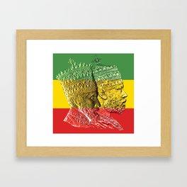 Haile Selassie King Menelik Framed Art Print