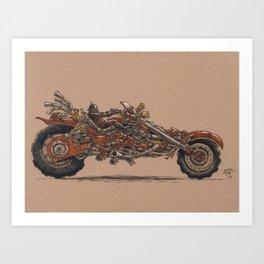 Purrs Like Leather Art Print