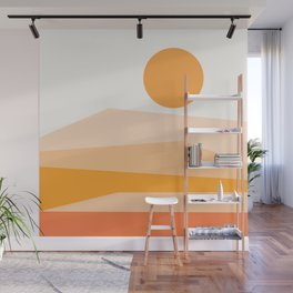 Abstract Landscape 09 Orange Wall Mural