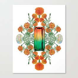 Birth Stone & Flower/OCTOBER Canvas Print