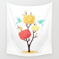 autumn Wall Tapestries featuring Autumn by Freeminds