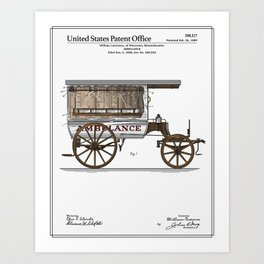 Ambulance Patent Art Print