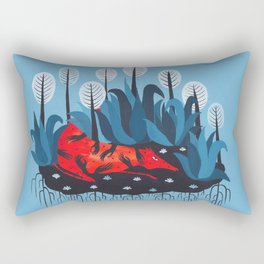 Smug red horse 3. Rectangular Pillow