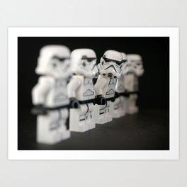 Storm trooper minifigure Art Print