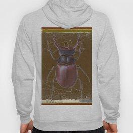ANTIQUE STAG-HORNED BEETLE BROWN ART Hoody