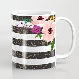 Monochrome Florals Coffee Mug