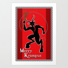 Merry Krampus Art Print